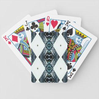 Weißes schwarzes blaues modernes sauberes Muster Bicycle Spielkarten