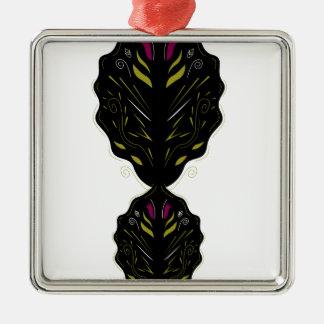 Weißes Schwarzes des orientalischen Silbernes Ornament