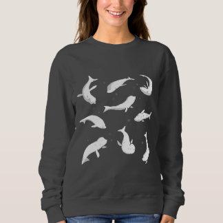 Weißes schwimmendes Siegel Sweatshirt