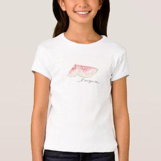 Weißes Shirt mit Watercolorwassermeloneentwurf