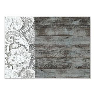 weißes Spitze barnwood Vintages Geburtstags-Party 11,4 X 15,9 Cm Einladungskarte