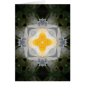 Weißes stachelige Mohnblumen-Quadrat Karte