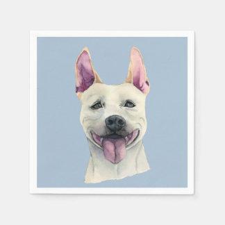Weißes Staffordshire-Bullterrier-HundeAquarell Servietten