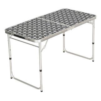 Weißes Standardband Beer Pong Tisch