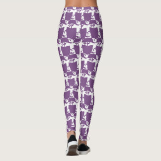 WEISSES STRUDEL-KREUZ LEGGINGS