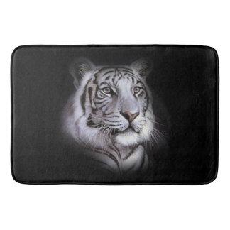Weißes Tiger-Gesicht Badematte