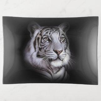 Weißes Tiger-Gesicht Dekoschale