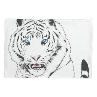 Weißes Tiger-Zeichnen Kissenbezug