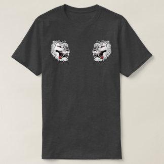 weißes Tigertätowierungst-stück T-Shirt