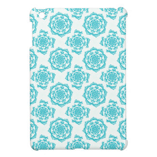 Weißes u. aquamarines Mandala-Muster iPad Mini Hülle
