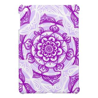 Weißes u. lila Mandala-Muster iPad Mini Hülle