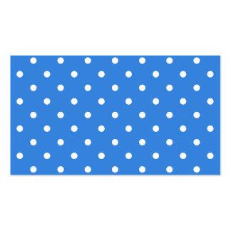 Weißes und blaues Tupfen-Muster Visitenkarten Vorlagen