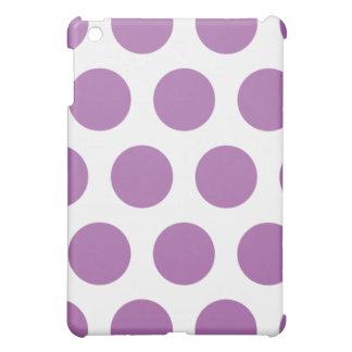 Weißes und lila Polkapunkt iPad Mini iPad Mini Hülle