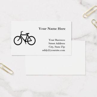 Weißes und schwarzes Fahrrad Visitenkarte