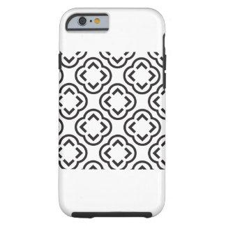 Weißes und schwarzes Muster Tough iPhone 6 Hülle