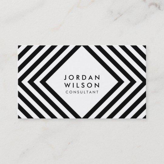 Weißes Und Schwarzes Quadrat Zeichnet Visitenkarte Zazzle De