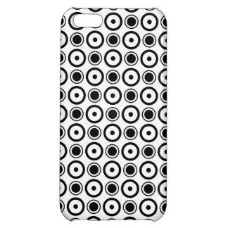 Weißes und schwarzes stilvolles Tupfenweiß iPhone 5C Hüllen