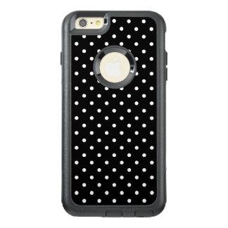 Weißes und schwarzes Tupfen-Muster OtterBox iPhone 6/6s Plus Hülle