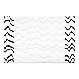 Weißes und schwarzes Wellen-Muster Individuelle Druckpapiere