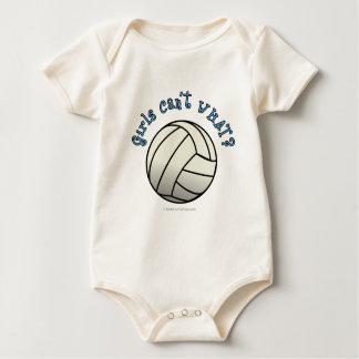 Weißes Volleyball-Team Baby Strampler