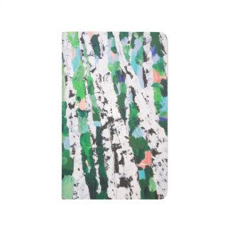 Weißes Waldwundern Taschennotizbuch