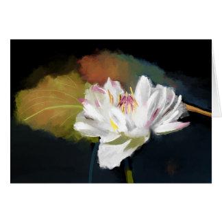 Weißes Wasser-Lilien-Gruß-Karte Grußkarte