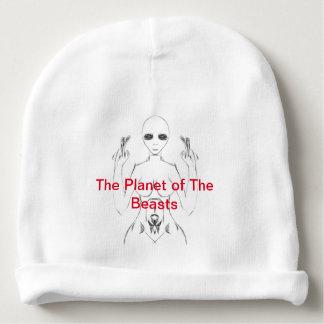 Weißes weibliches E.T. Sketch auf Beanie von TPOTB Babymütze