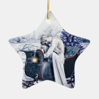 weißes Weihnachten Keramik Ornament
