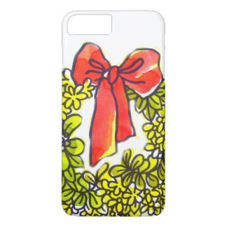 weißes Weihnachtsdekor-Liebe und glückliches iPhone 8 Plus/7 Plus Hülle