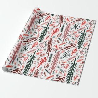 Weißes Weihnachtsmärchenland Geschenkpapier
