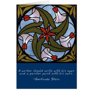 Weißes Winden-Gertrude Stein-Zitat Karte