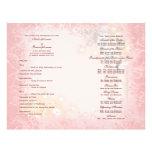 Weißes wunderliches des Hochzeitsprogramm-Rosas Flyer