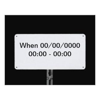 Weißes Zeichen-Schwarzes 21,6 X 27,9 Cm Flyer