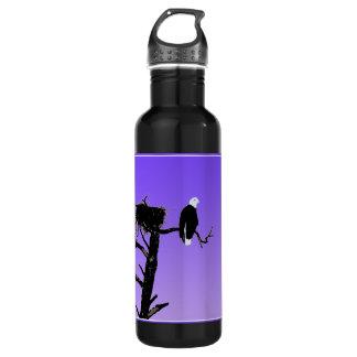 Weißkopfseeadler am Sonnenuntergang - Trinkflasche