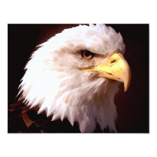 Weißkopfseeadler-Amerikaner Eagle Personalisierte Ankündigungskarte