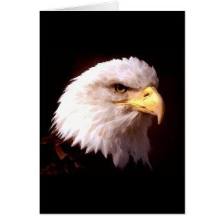 Weißkopfseeadler-Amerikaner Eagle Grußkarte
