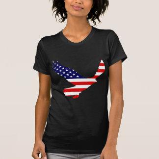 Weißkopfseeadler-amerikanische Flagge T-Shirt