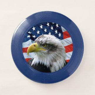 Weißkopfseeadler-amerikanische Flagge Wham-O Frisbee