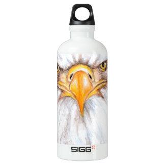 Weißkopfseeadler-Anstarren Aluminiumwasserflasche
