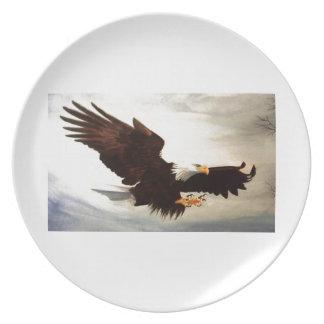 Weißkopfseeadler-Ansteigen Teller