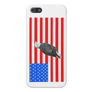 Weißkopfseeadler auf amerikanischer Flagge iPhone 5 Schutzhülle
