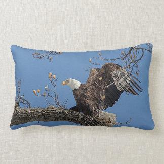 Weißkopfseeadler auf einem Baumast Lendenkissen