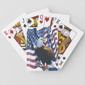 Weißkopfseeadler auf Flagge-Beleuchtung Kartendeck