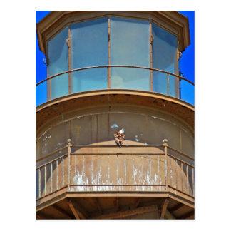 Weißkopfseeadler auf Leuchtturm-Schiene Postkarte