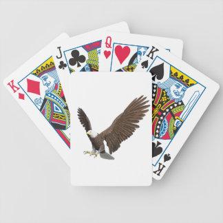 Weißkopfseeadler, der für eine Landung hereinkommt Bicycle Spielkarten
