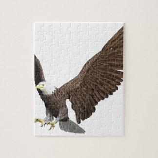 Weißkopfseeadler, der für eine Landung hereinkommt Puzzle