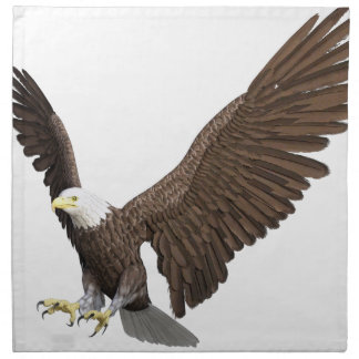Weißkopfseeadler, der für eine Landung hereinkommt Serviette