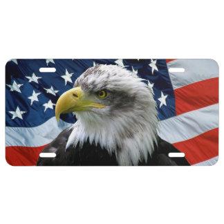 Weißkopfseeadler-Flagge-Kfz-Kennzeichen US Nummernschild