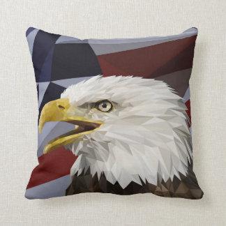 Weißkopfseeadler-Flagge-Kissen Kissen