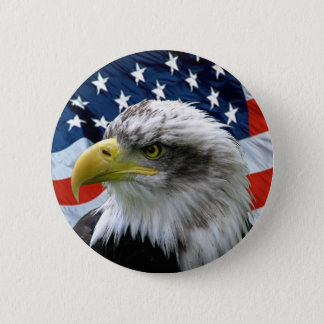 Weißkopfseeadler-Flagge-Knopf Runder Button 5,7 Cm